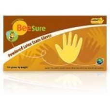 BeeSure Powder Free Latex Exam Gloves